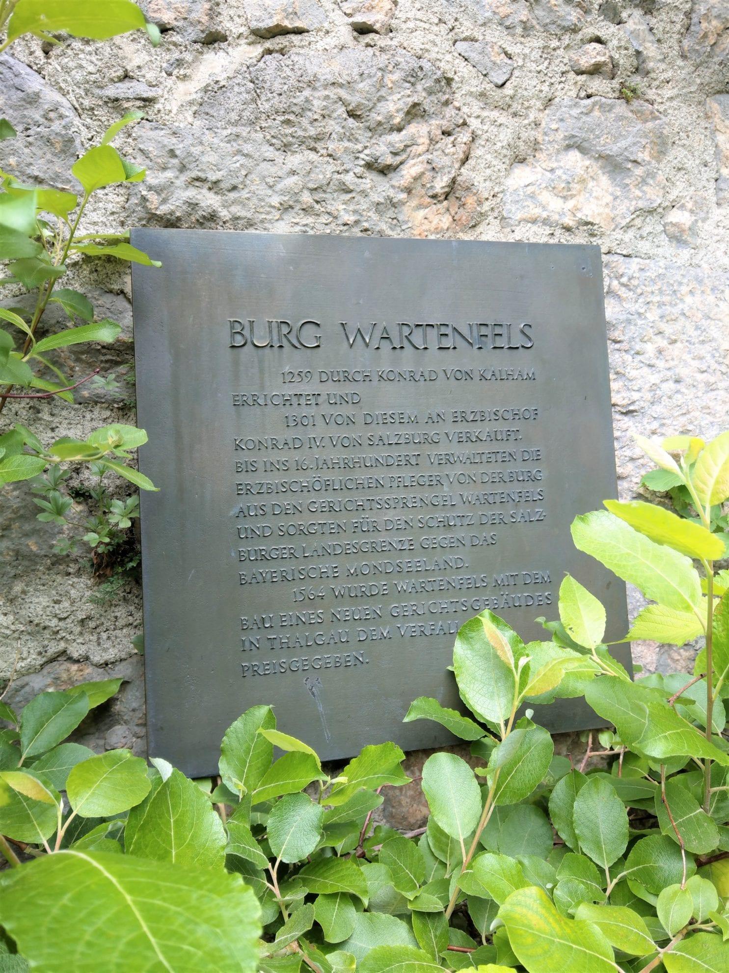 Burg Wartenfels Infotafel