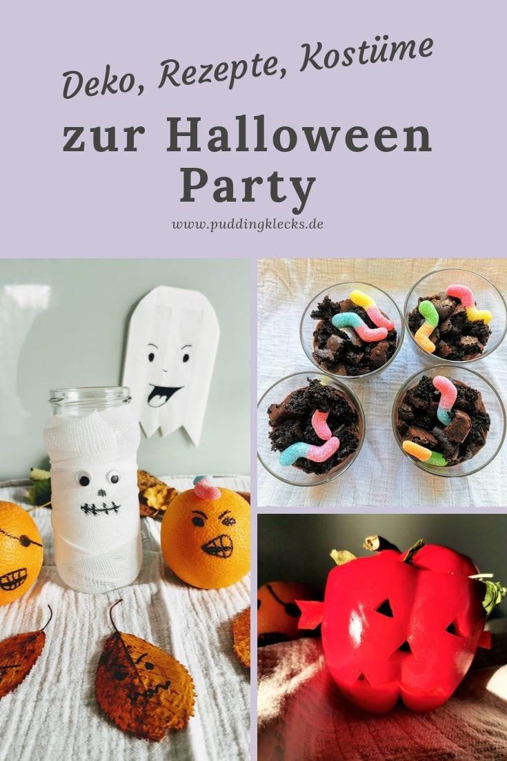 DIY Pin Halloween Party Rezepte, Kostüme, Dekoration Mamablog Puddingklecks