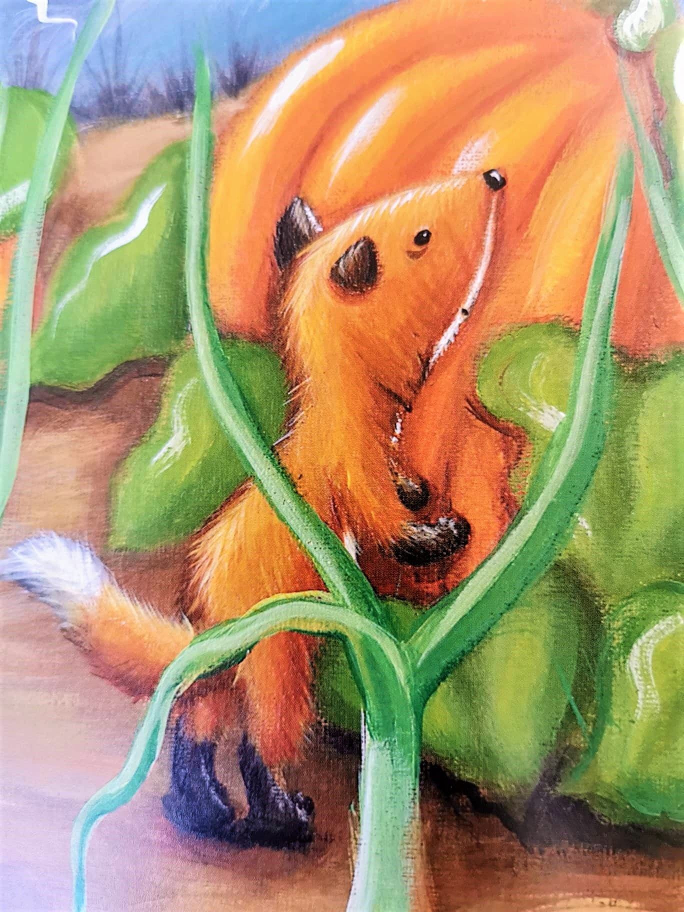 Der kleine Fuchs am Kürbis