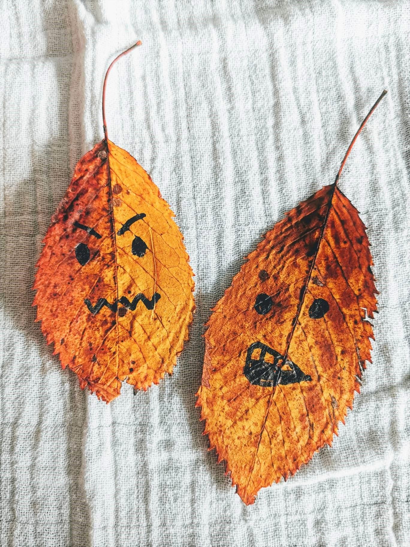 Herbstlaub, grimmig, Dekoration, DIY, Puddingklecks