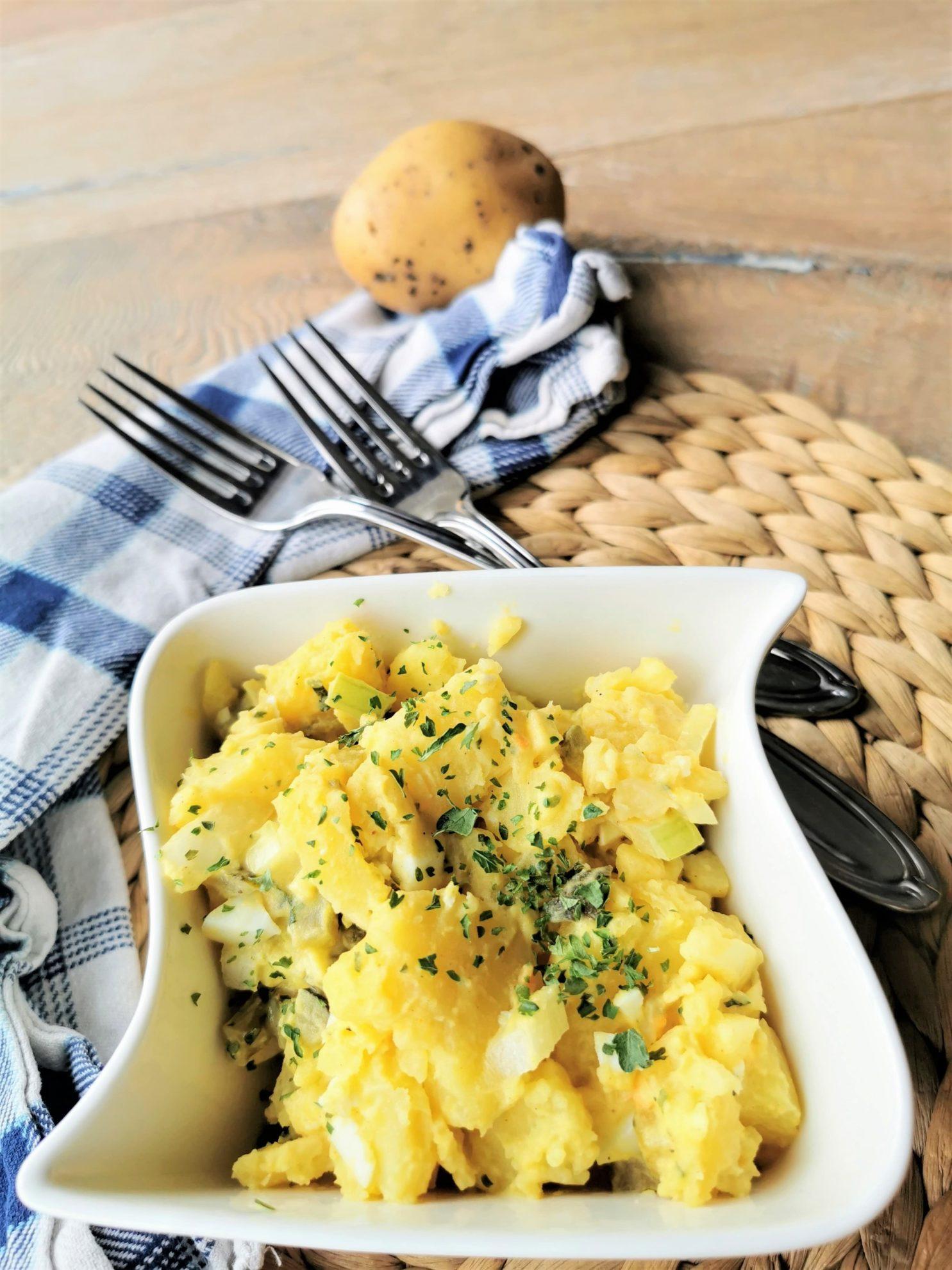 Familienrezept aus Tschechien: Kartoffelsalat bei Puddingklecks