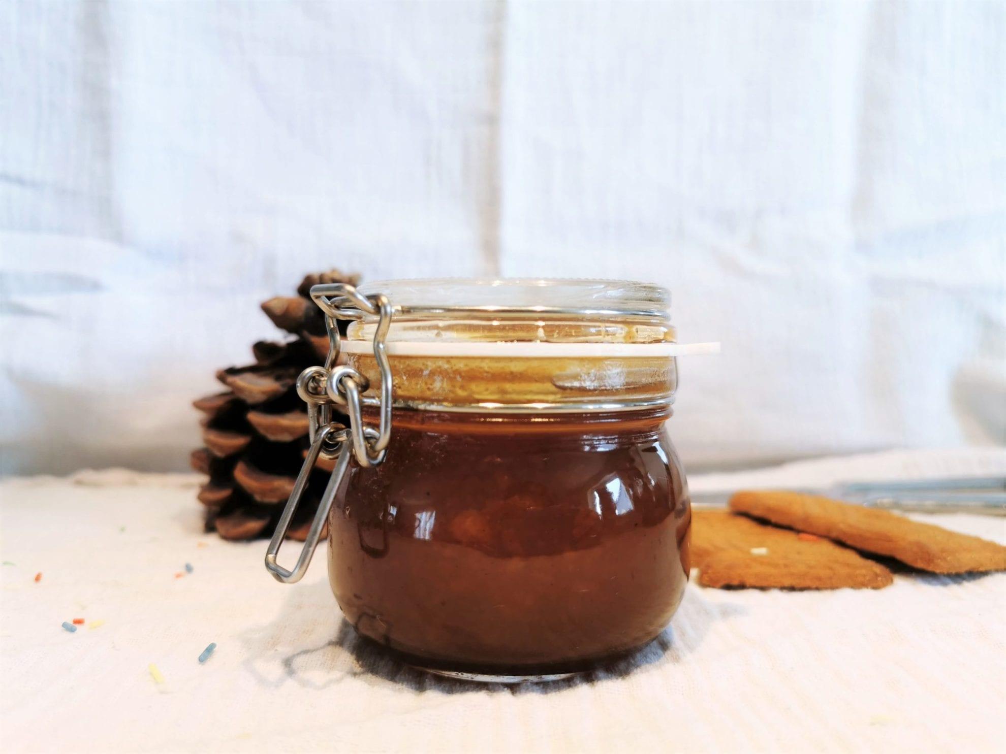 Pflaumengelee mit Spekulatius Titel Rezept Puddingklecks