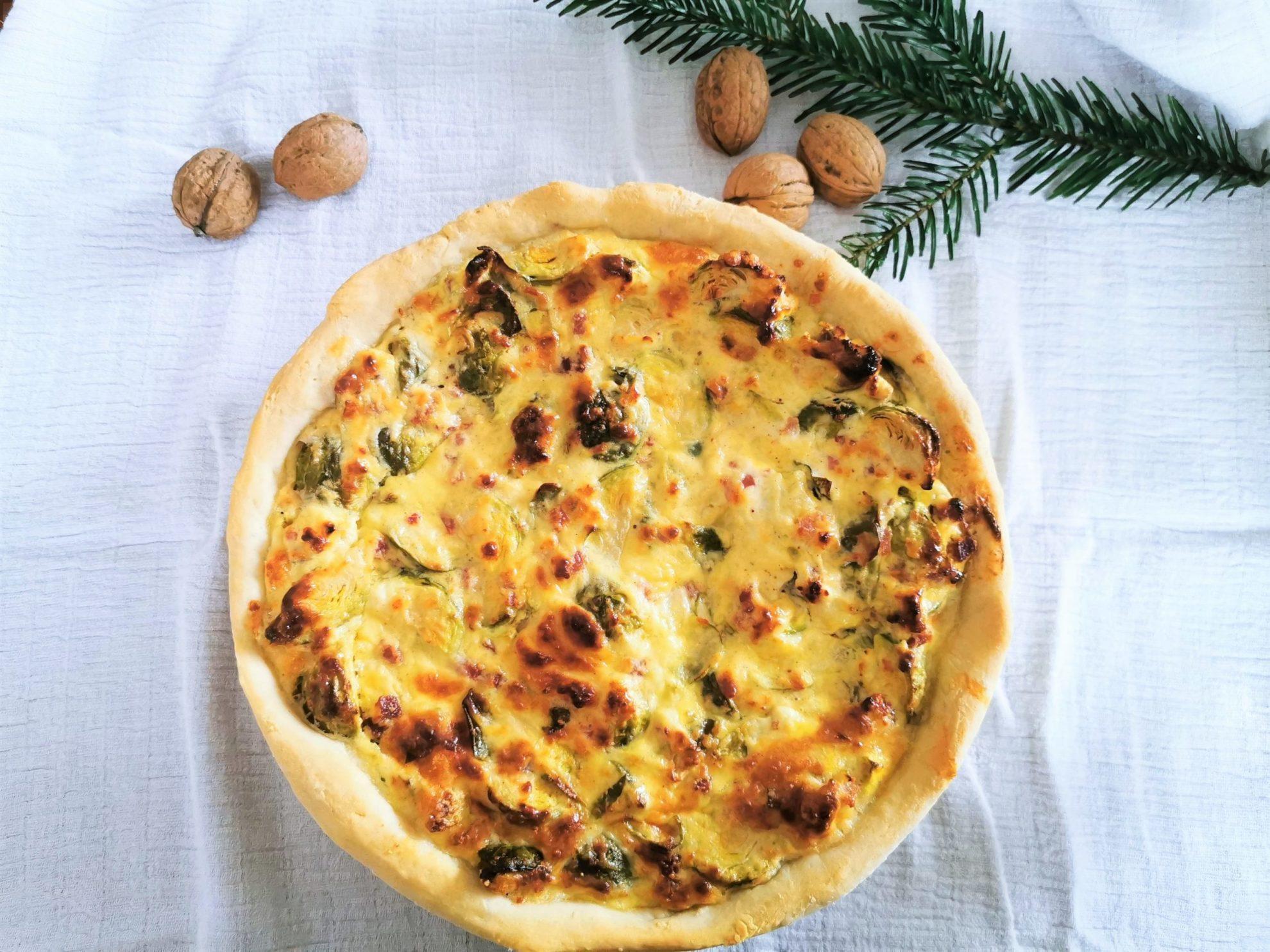 Rosenkohl Rezept Puddingklecks Mamablog Großfamilie Rosenkohlquiche Titel