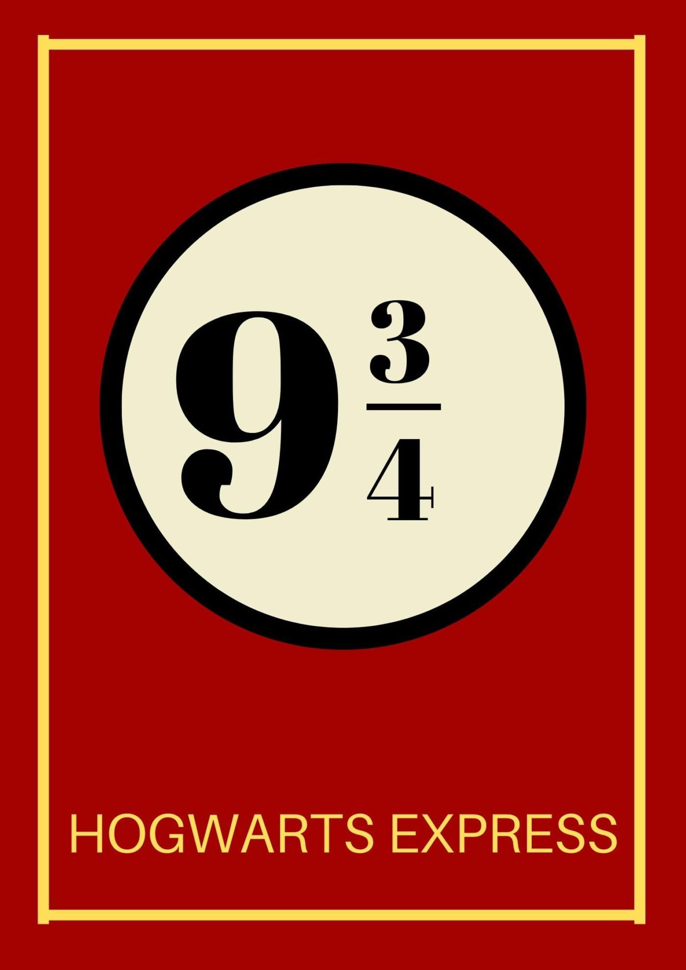 Plakat Hogwarts Express