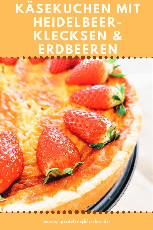 Pin Käsekuchen mit Heidelbeeren und Erdbeeren: Ein tolles Rezept zum Backen auf Puddingklecks, dem Großfamilienblog