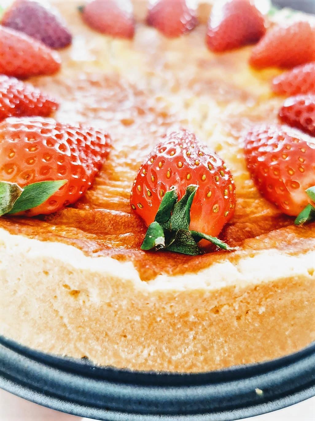 Erdbeeren auf dem Kuchen als Topping bei Julie von Puddingklecks
