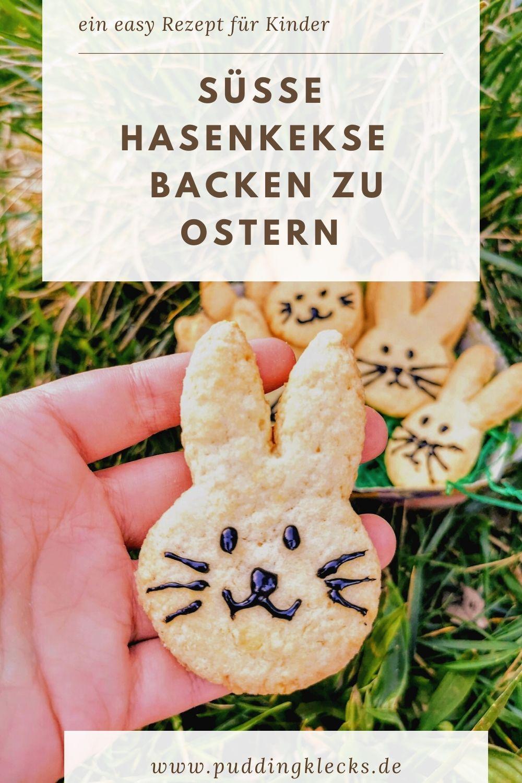 Du suchst nach einem tollen Gebäck für Ostern? Dann solltest du diese Hasenkekse aus Mürbteig unbedingt probieren! Die sind ein Highlight in jedem Osternest! #backen #ostern #mitkindernbacken #backenmitkindern #hasenkekse #kekse #rezept #rezeptidee #mürbeteig