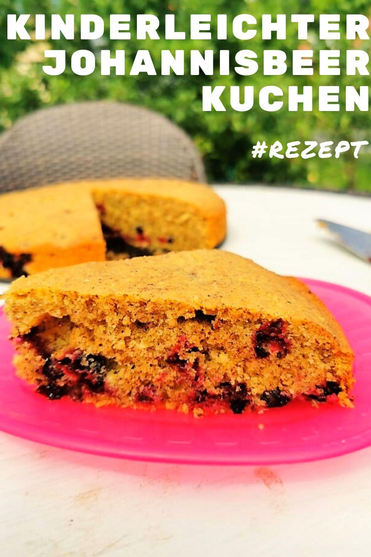 Rezept für Johannisbeerkuchen - kinderleicht und saftig kommt dieses Backrezept daher. Wenn du Beeren magst, wirst du diesen Kuchen lieben! #kuchen #backen #rezept #backrezept #rezeptidee #backblog