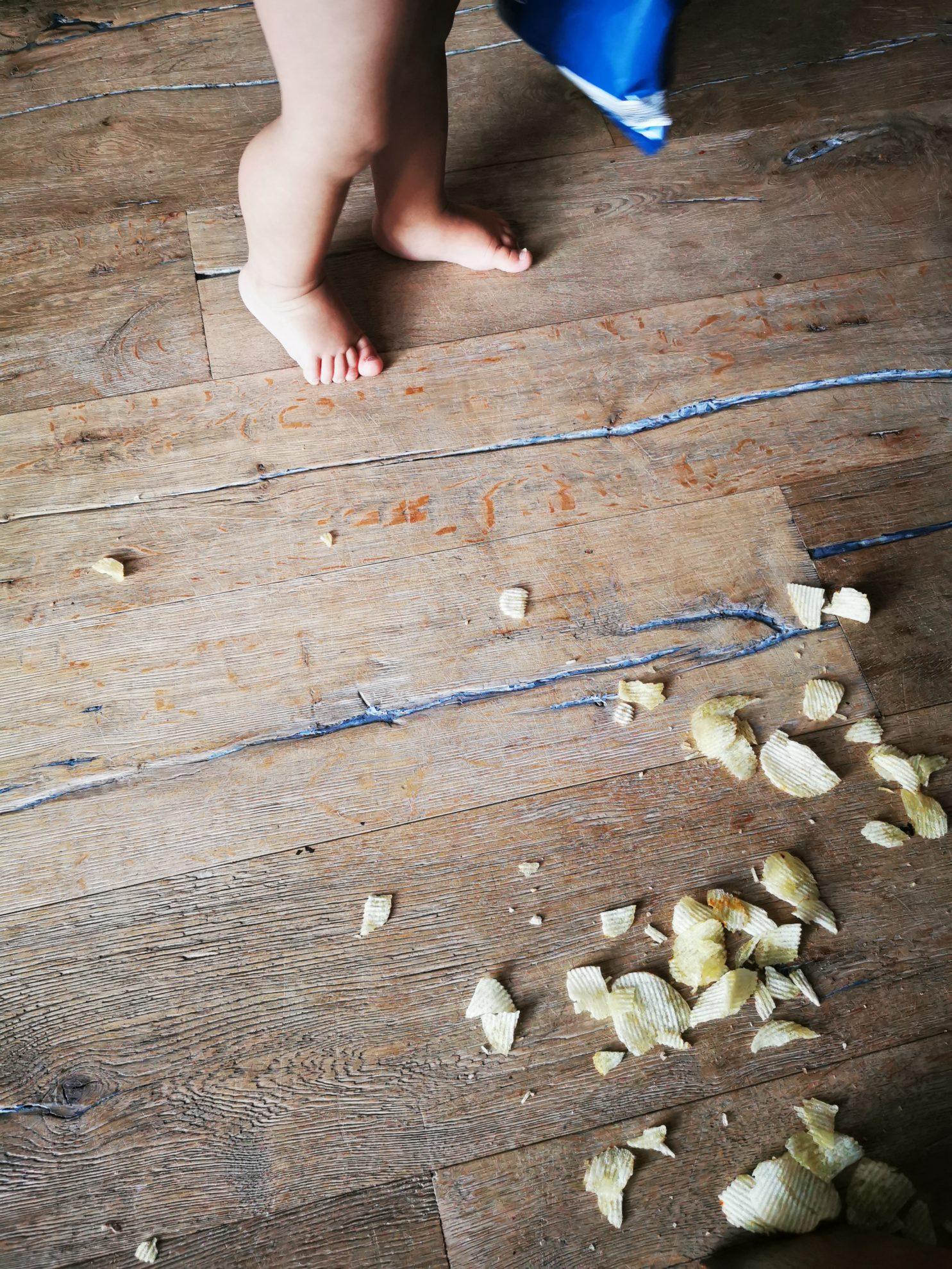 Chips Fußboden Haushalt