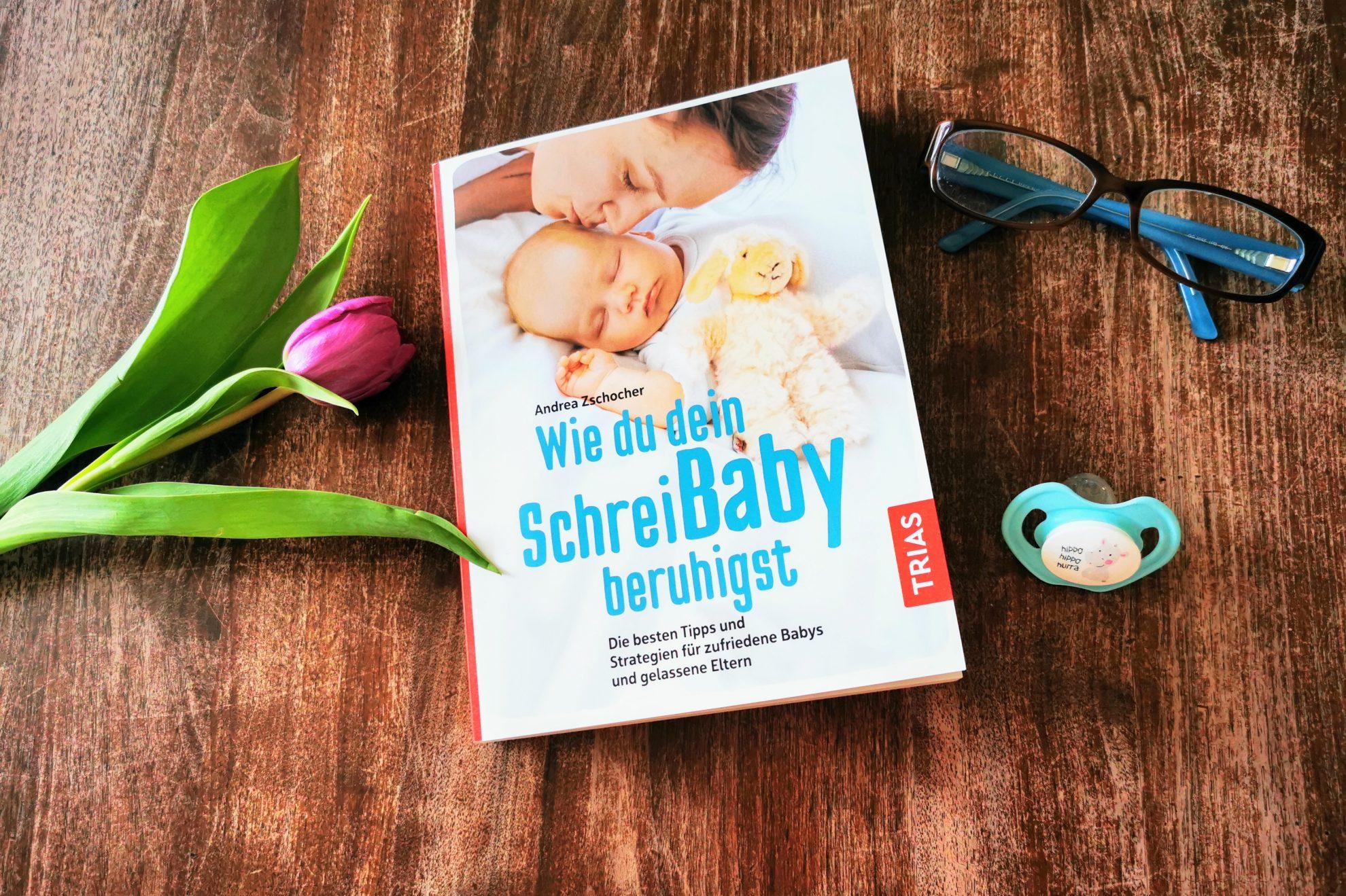 Rezension: Andrea Zschocher: Wie du dein Schreibaby beruhigst - ein liebevoller Ratgeber auf Augenhöhe, erschienen im Trias-Verlag, rezensiert auf Puddingklecks. dem Großfamilienblog mit Herz