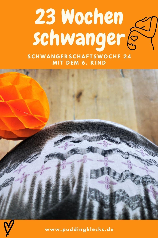 23 Wochen schwanger - die 24. Schwangerschaftswoche mit dem 6. Kind. Über Gelüste, Abneigungen, Shopping und die Entwicklung unseres Kindes. #schwanger #schwangerschaft #baby #geburt #kinder #wunschkind