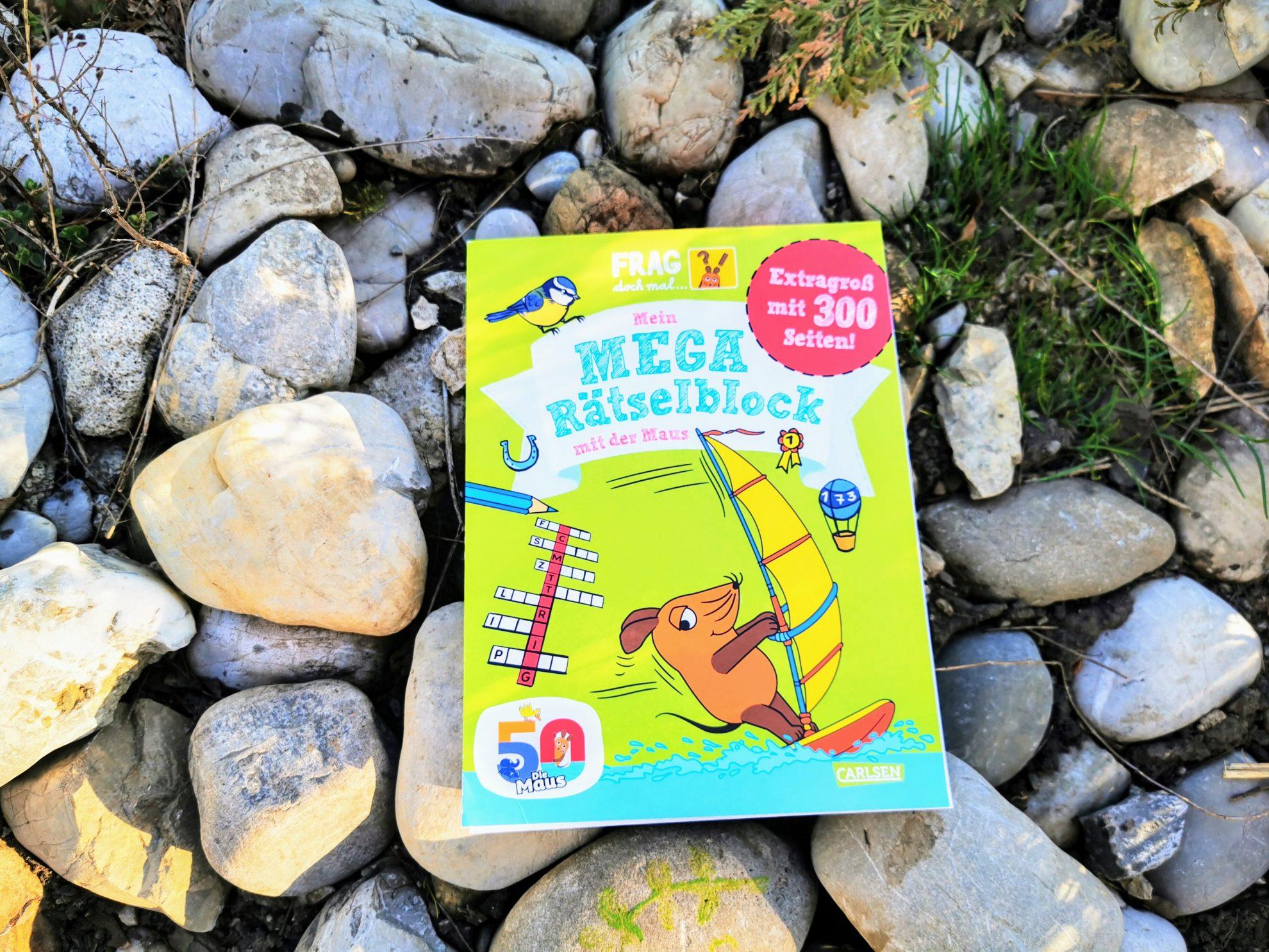 """Ein Mega Rätselblock mit 300 Seiten für Kinder ab 7 Jahren aus der Reihe """"Frag doch mal ... die Maus!"""""""