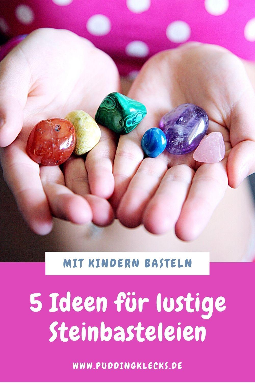 Du hast überall Steine deiner Kinder und weißt nicht wohin? Ich zeige dir 5 einfache Ideen, was du mit Steinen basteln kannst. #basteln #diy #steine #stein #mitkindernbasteln #bastelidee #teelicht #kinder