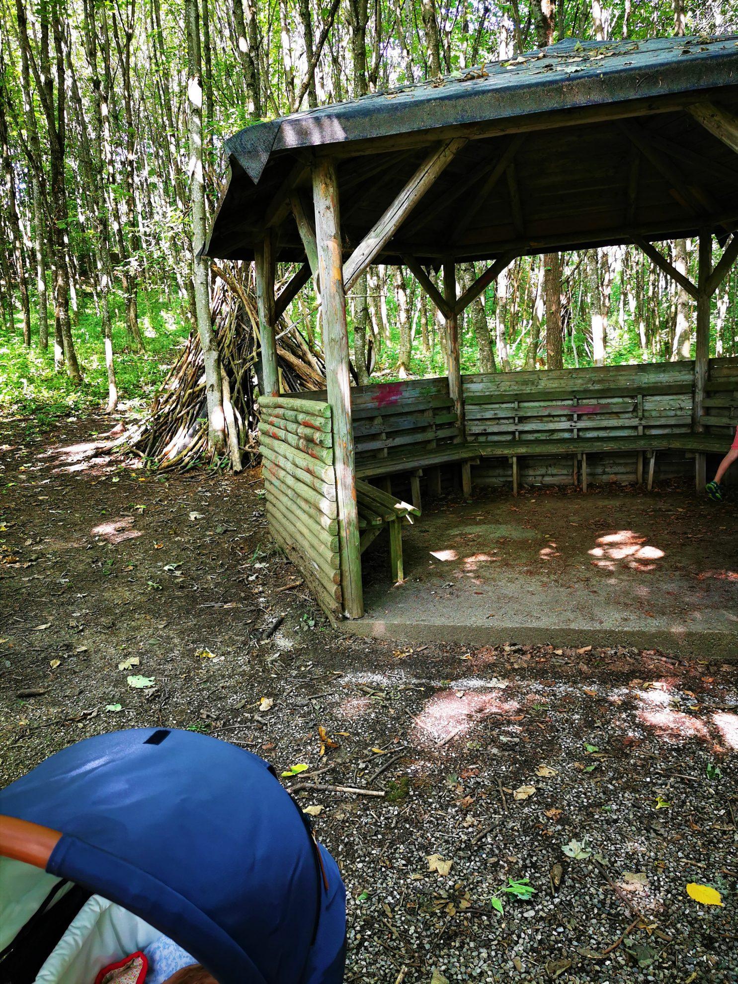 Tipis aus Totholz, die zum Spielen einladen - ein perfekter Walderlebnisraum für Kinder