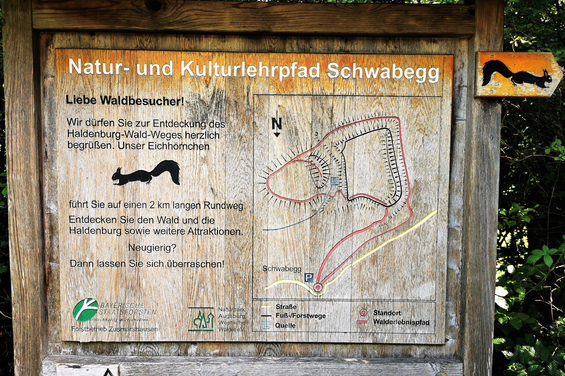 Du suchst nach einem schönen Ausflugsziel für die ganze Familie? Dann schau dir den Natur- und Kulturlehrpfad Schwabegg an. Ein Waldparadies!