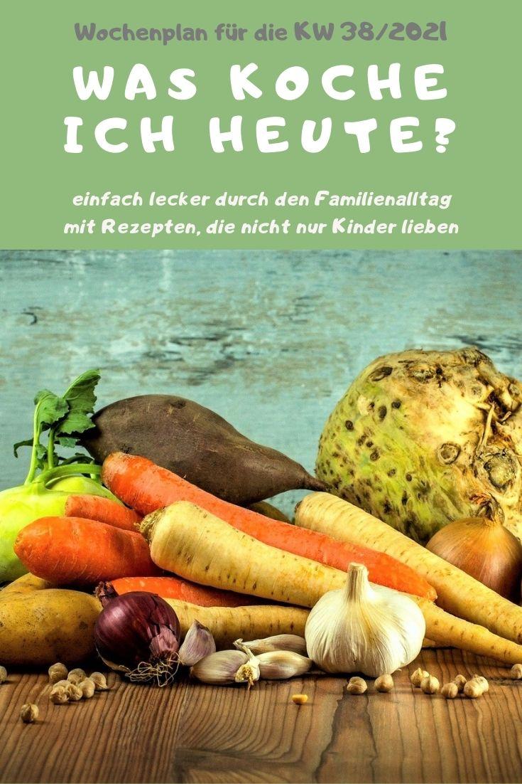 Bunt, lecker und abwechslungsreich kochen mit dem Familien-Wochenplan KW 37/2021. Vegane, vegetarische Rezepte & Gerichte mit Fleisch & Fisch. #kochen #rezepte #rezeptidee #wochenplan #speiseplan #familientisch #essen