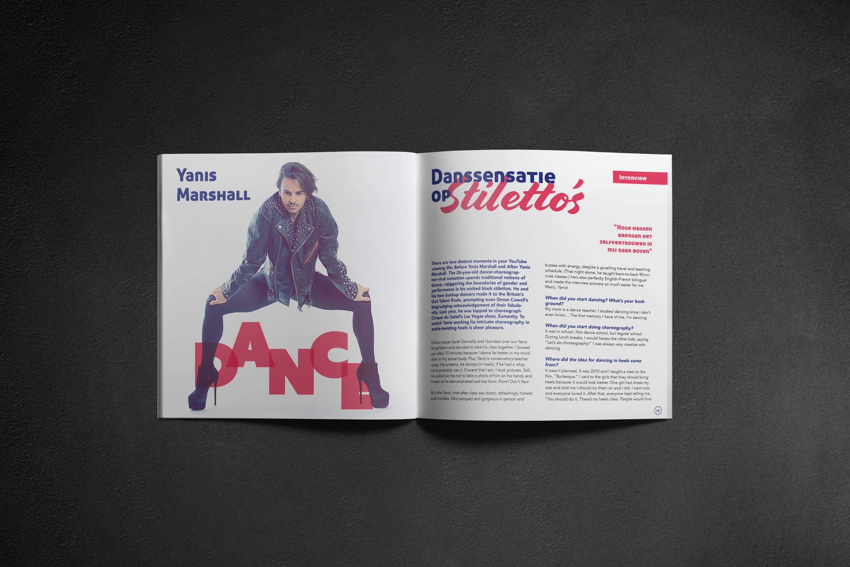 design layout interview magazine brochure