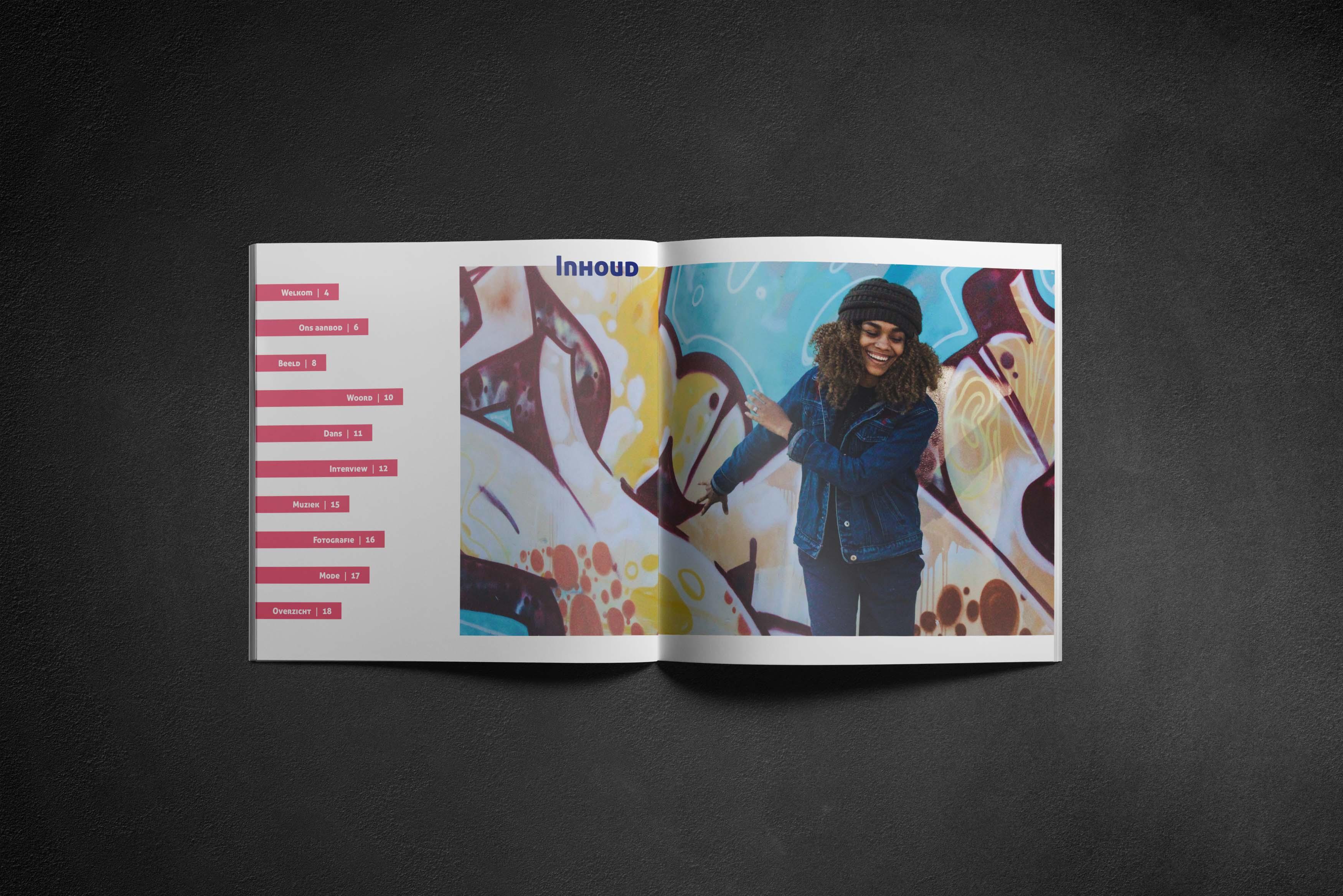 design inhoudstafel brochure