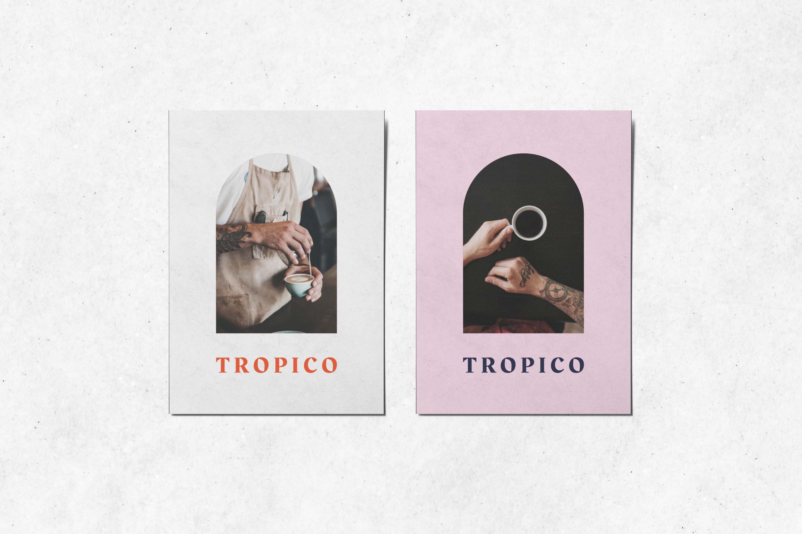 design postkaart Tropico koffiebar