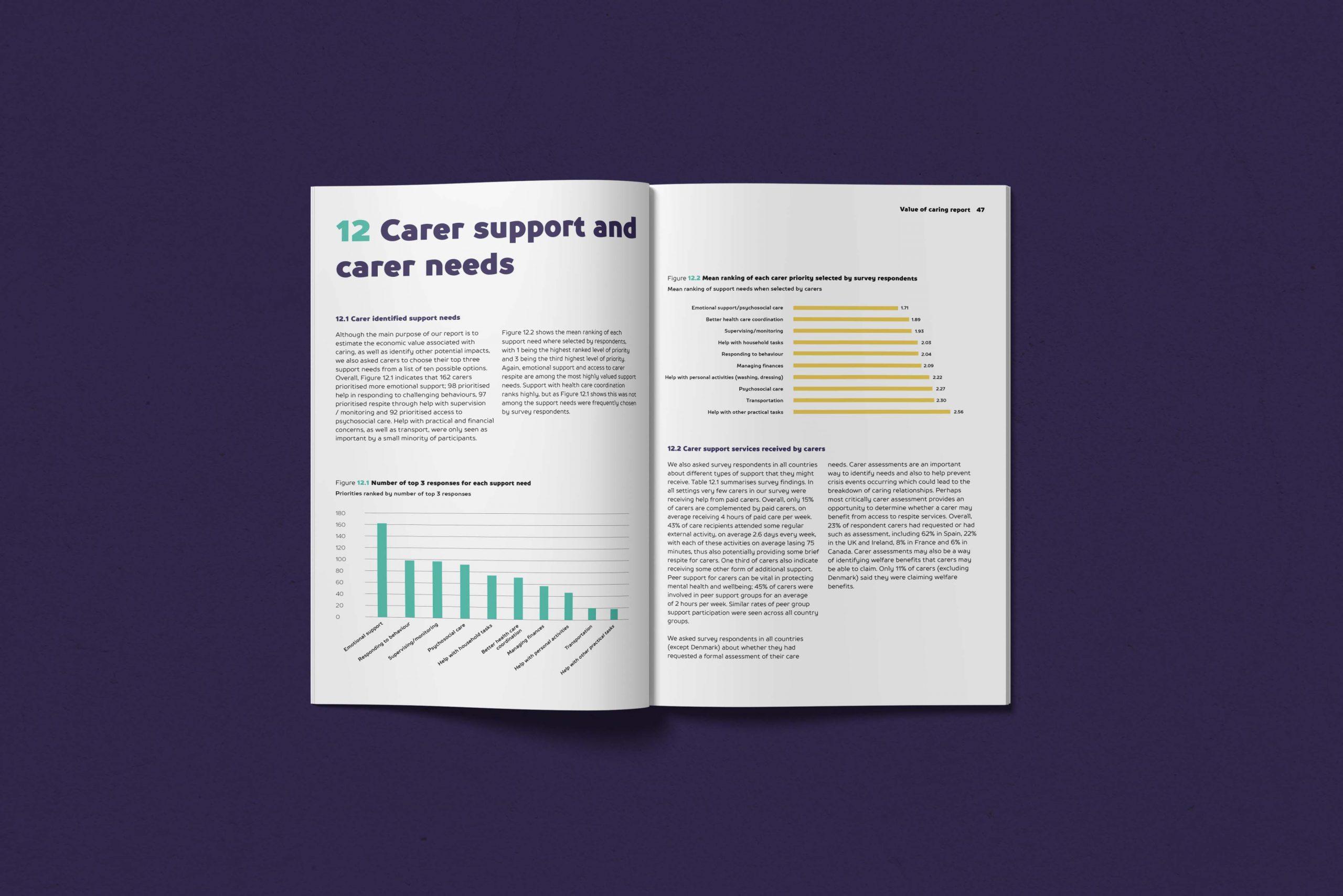 Layout van studieresultaten Cost of Caring van EUFAMI