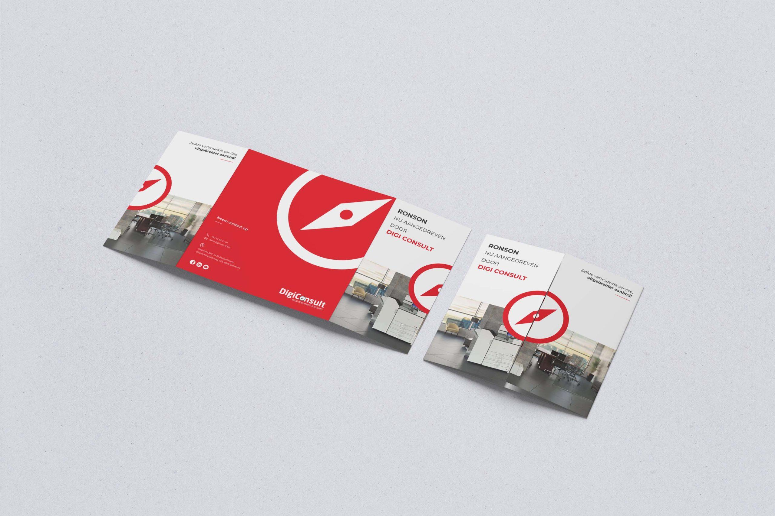 Ontwerp drieluik brochure voor Digi Consult