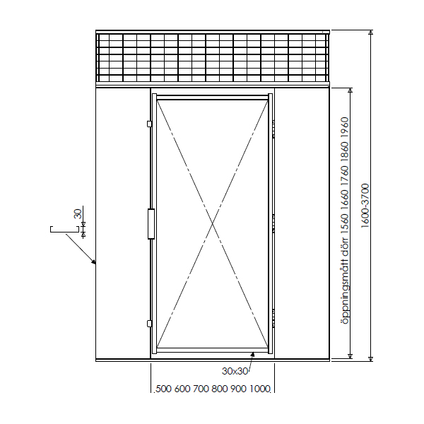 Illustration pulterrum G450 pladevæg