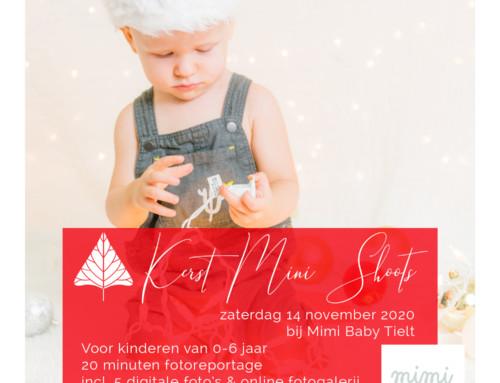 Kerst Mini fotoshoots bij MIMI BABY TIELT!