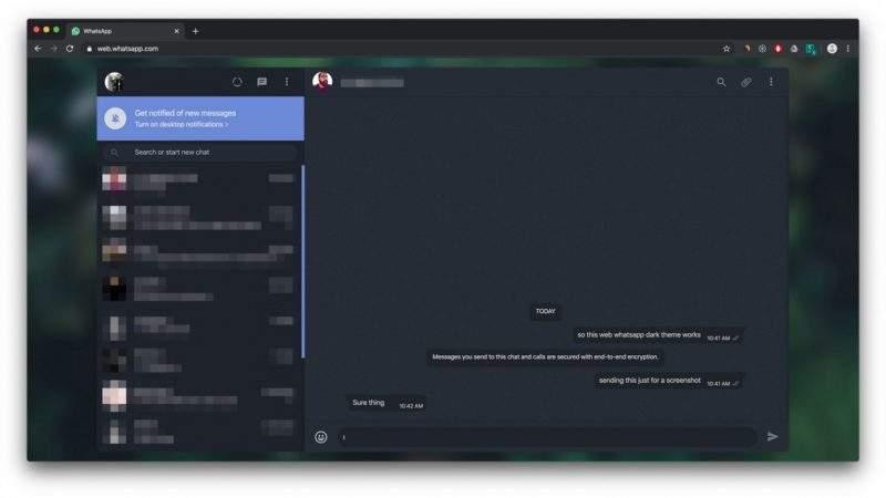 Cómo activar el modo oscuro oficial de WhatsApp web manualmente