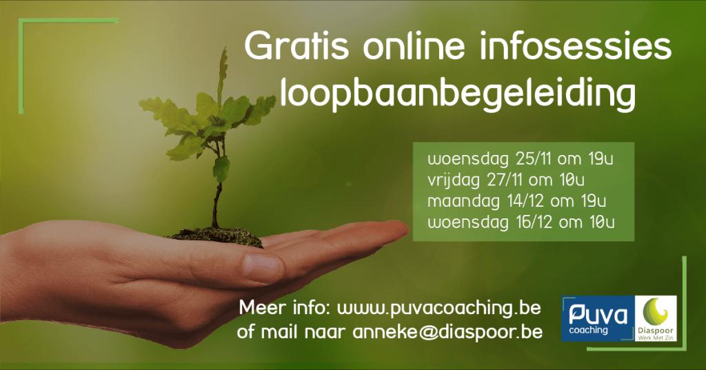 gratis online infosessies loopbaanbegeleiding
