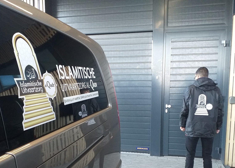 Islamitische Uitvaart al-Qadr-bus