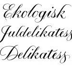 kalligrafi, förpackning