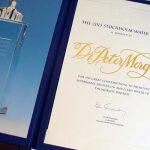 kalligrafi. Stockholm Water Prize diplom, 2013