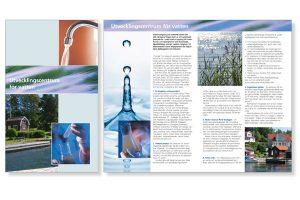 design, folder, Utvecklingcentrum för vatten