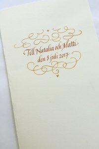 kalligrafi. bröllopskort