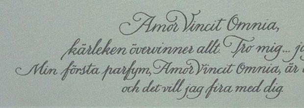 kalligrafi, brev, Eva Attling