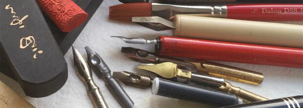 kalligrafikurser, verktyg