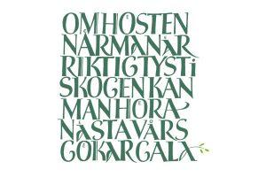 kalligrafi, om hösten...