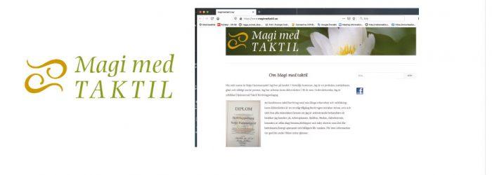 hemsida och logotyp till Magi med taktil