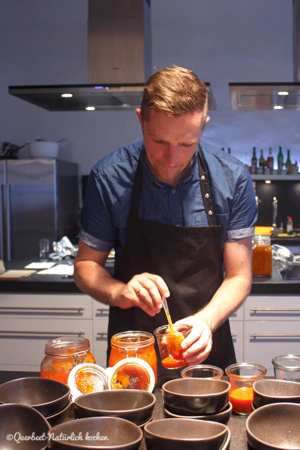 Querbeet-Natürlich kochen.Summer of Supper 2015#1.Anrichten Ketchup