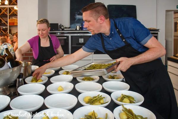 Querbeet-Natürlich kochen.Summer of Supper 2015#1.Anrichten Vorspeise
