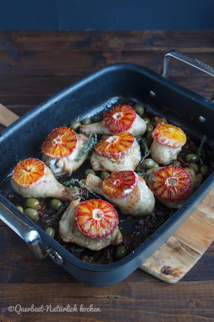 Haehnchen mit Marsala, Oliven und Blutorangen 2.querbeetnatuerlichkochen