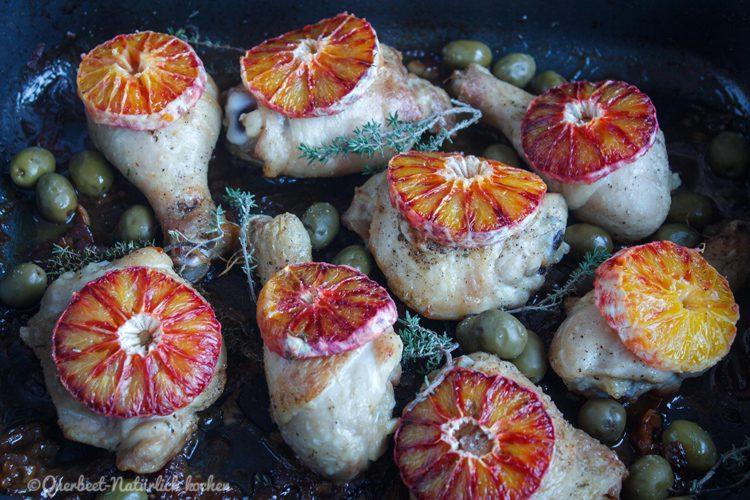 Haehnchen mit Marsala, Oliven und Blutorangen 4.querbeetnatuerlichkochen