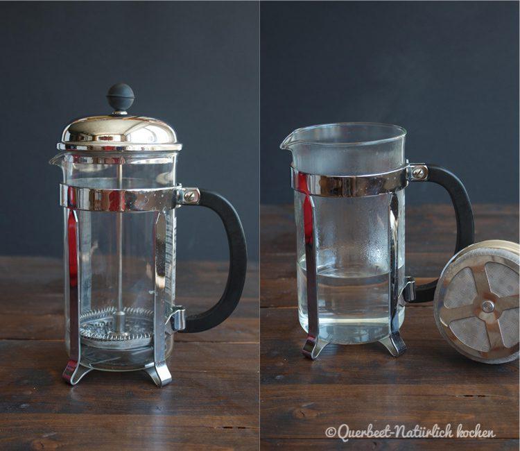Zubereitung Kaffee in der French Press 1.querbeetnatuerlichkochen