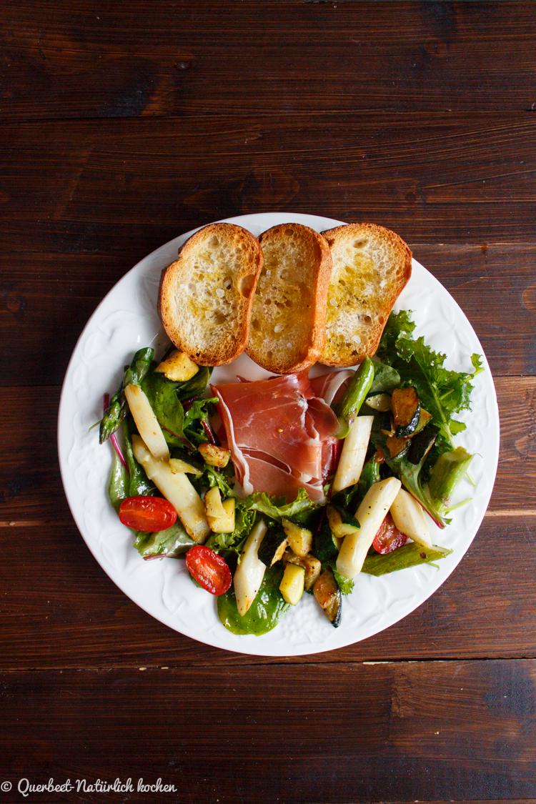 Spargelsalat l Spargel l Zucchini l Salat l Tomaten l Querbeet-Natürlich kochen