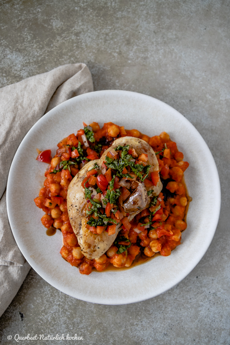 Hähnchen mit doppelt Paprika | Jamie Oliver | 7 Mal anders | querbeetnatuerlichkochen.de