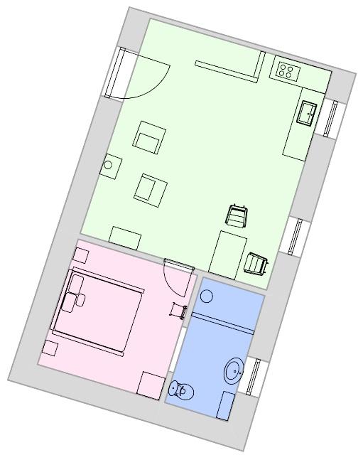 Quinta Olivia apartment Lindo floor-plan