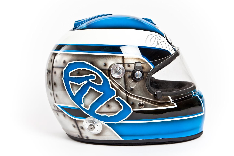 Airbrush schildering racehelm voor autosport motorsport