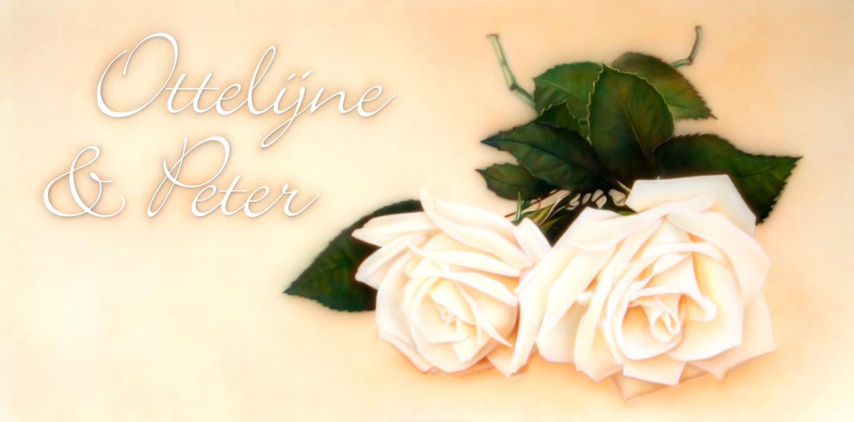 Romantisch airbrush rozen schilderij