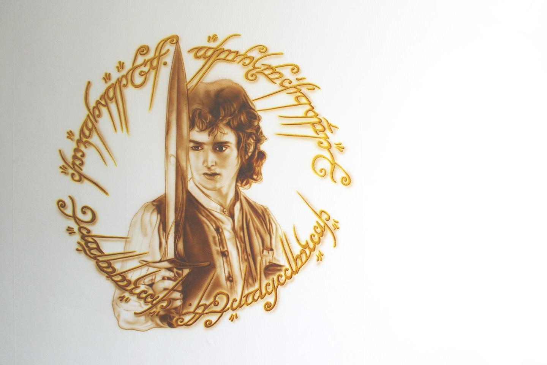 Lord of the Rings muurschildering van Frodo