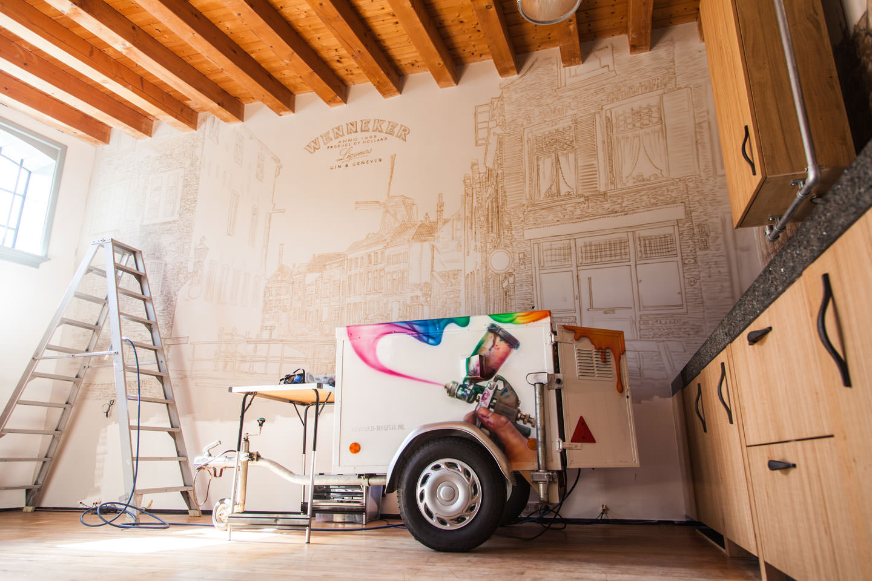 muurschildering slaapkamer wenneker schiedam